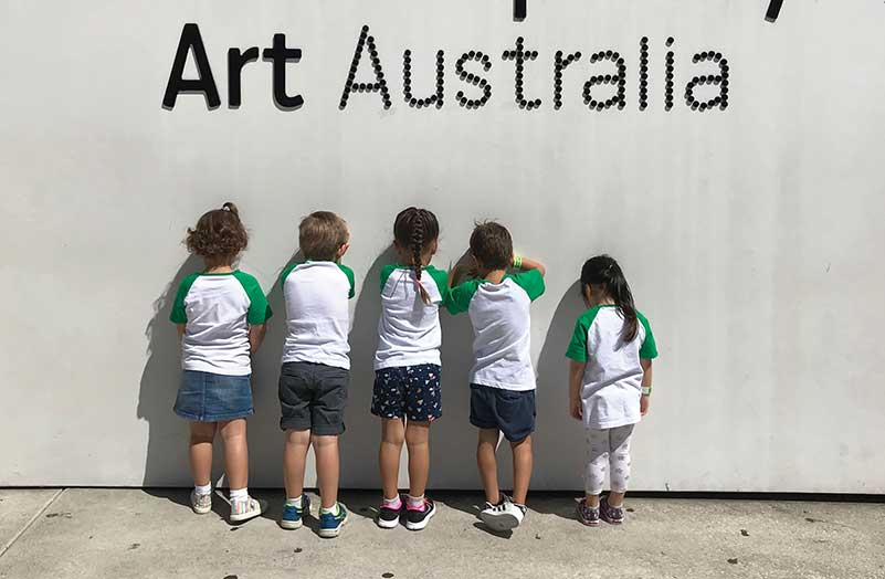 Children Facing Walls