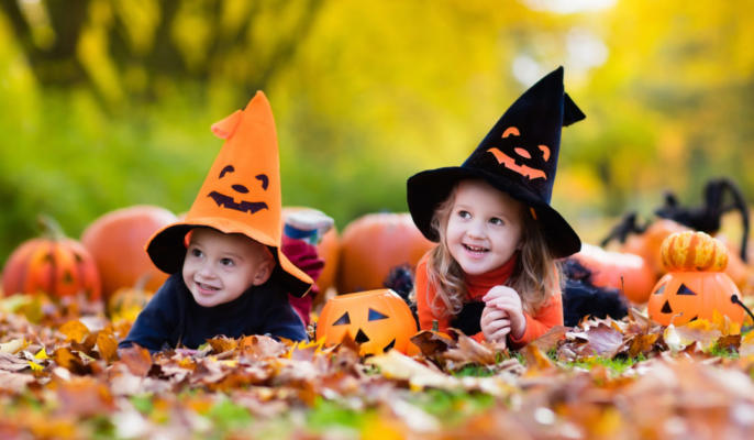 Cute Children In Halloween Costumes